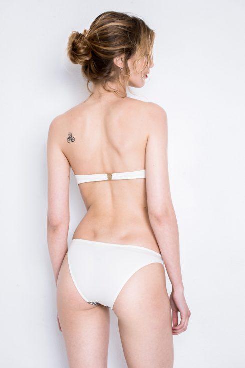 LUXI | Bikini Mono Coppa inserto fantasia Slip Basso